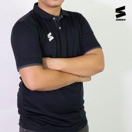 Man sport t-shirt POLO SIMPLE BLACK