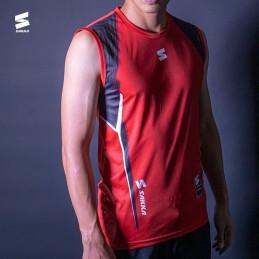 Man shirt no sleeve HAWK RED